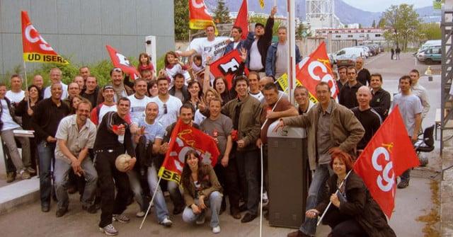 Salariés CGT de GEG. © CGT mines-énergies