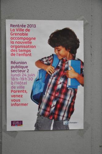 Réforme des rythmes de l'enfant à Grenoble.