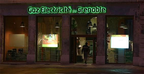 Enseigne Gaz et Électricité de Grenoble © GEG