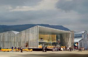 Vue d'artiste de la futur salle de musiques amplifiées La Belle Electrique, à Grenoble. DR