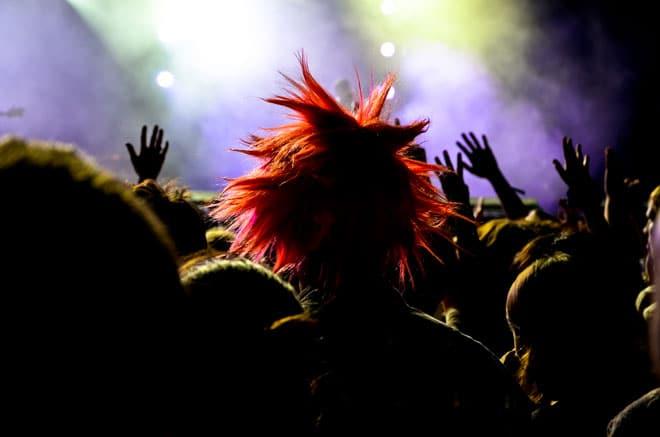 Les Londonniens de Klaxons avaient aussi leurs fans dans la fosse aux lions de Musilac, samedi 13 juillet.