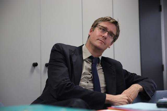 Olivier Noblecourt en 2013, alors adjoint délégué à l'Action sociale de la Ville de Grenoble © Nils Louna - Place Gre'net