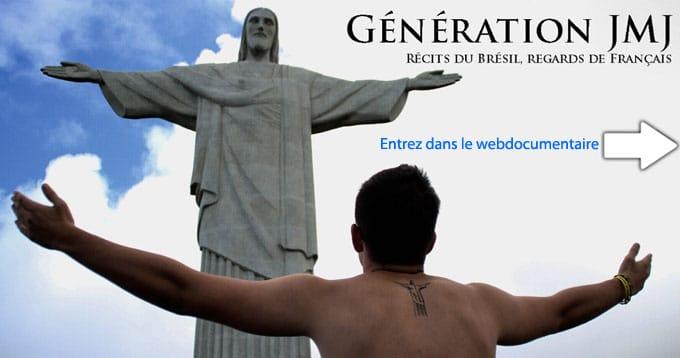 Webdocumentaire sur les JMJ avec des jeunes de Grenoble.