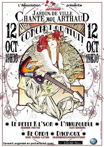 affiche concert arthaud