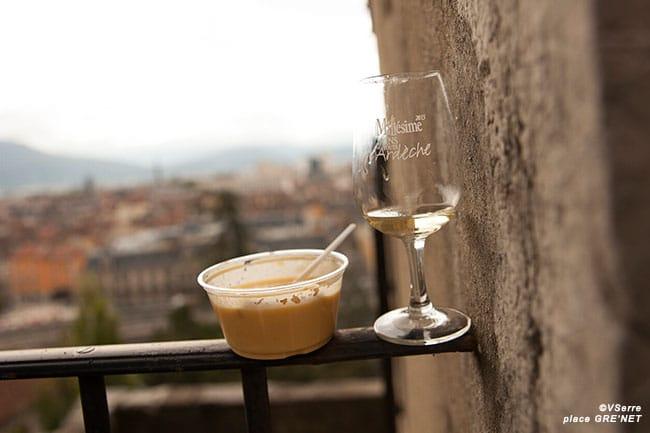 Velouté de Potiron façon Clémenceau accompagné d'un vin d'Ardèche blanc Saint Peray