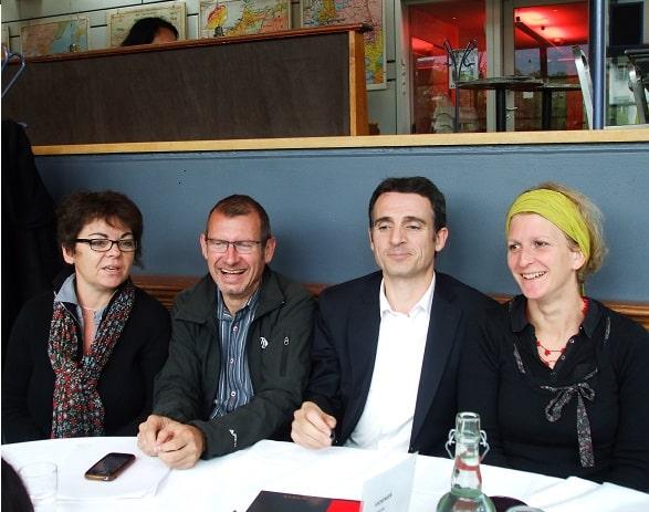De gauche à droite: Corinne Bernard, Pierre Mériaux, Eric Piolle et Alexandra Cuzet
