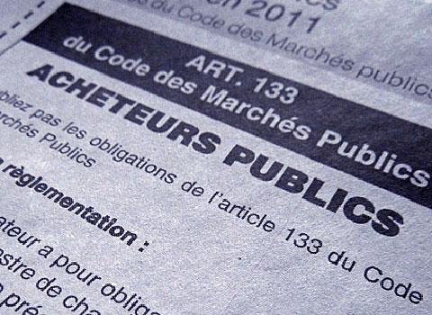 Article 133 du code des Marchés Publics à destination des acheteurs publics