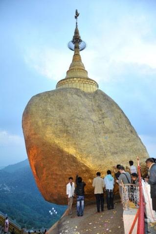 Le Rocher d'or à Kyaik-Hti-Yo Birmanie © Karmin Communication Photographie