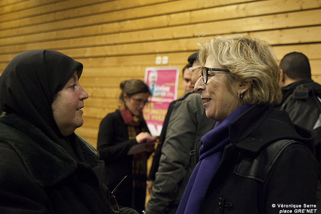 Geneviève Fioraso au 4ème CaféDébat Grenoble Ville d'Innovation et Polique de l'Emploi