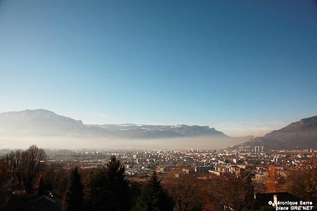 Nuage de pollution sur Grenoble