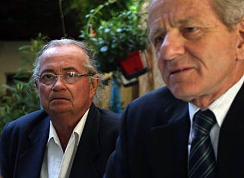 Alain Carignon en interview et Michel Tavelle ex chargé de communication de l'UMP38 qui a pris position contre Matthieu Chamussy