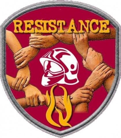 Badge résistance des Sapeurs pompiers du Sdis 38 en conflit avec leur direction