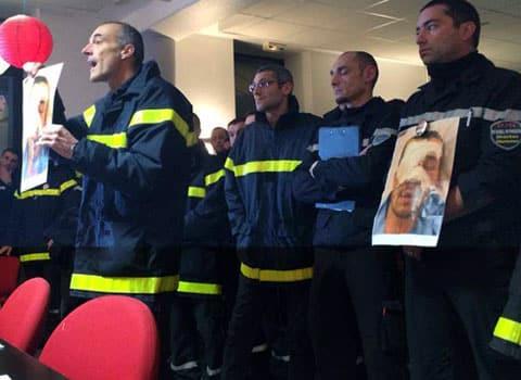 résistance des Sapeurs pompiers du Sdis 38 en conflit avec leur direction