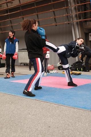 Démonstration de boxe française © Véronique Serre - Place Grenet