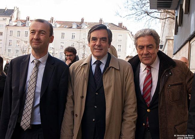 Matthieu Chamussy, François Fillon et Richard Cazenave