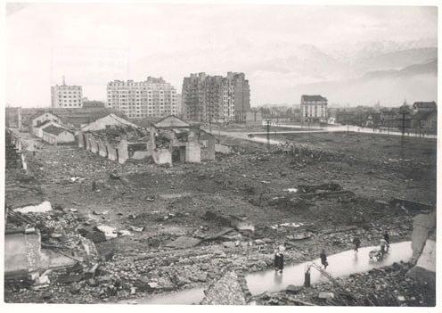 L'explosion de la Caserne de Bonne le 2 décembre 1943 © Musée de la Résistance et de la Déportation de l'Isère