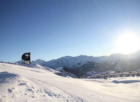 Ophélie David L'Alpe d'Huez ski saut neige