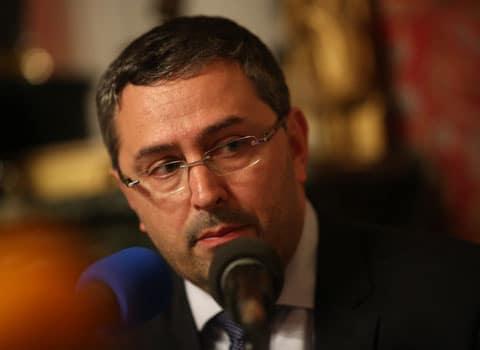 Jérôme Safar en préfecture de l'Isère le soir du premier tour des municipales à Grenoble