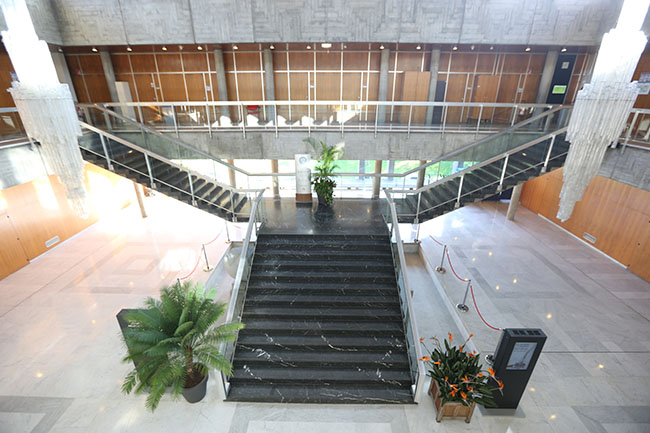 hall de la mairie de Grenoble escaliers