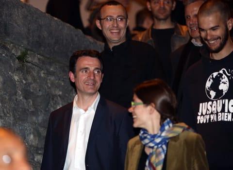 Eric Piolle nouveau maire de Grenoble au soir de sa victoire au second tour des élections municipales