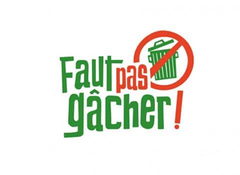 Logo Faut pas gâcher. © FNE