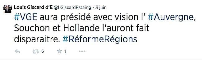 Louis Giscard d'Estaing, député du Puy de Dôme (2002-2012) et fils de...
