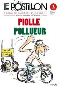 Couverture du journal satirique Le Postillon Piolle pollueur été 2014
