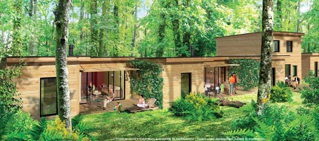 Cottages Center Parcs Roybon Pierre et Vacances Forêt des Avenières Chambarans Isère. © Pierre et Vacances
