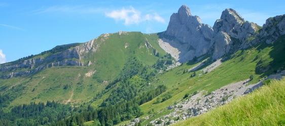 Le Col Vert accessible depuis le vallon de la Fauge. © grenoble-montagne.com