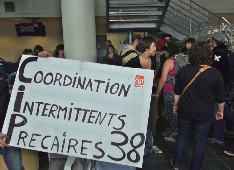 Intermittents © Joel Kermabon - placegrenet.fr