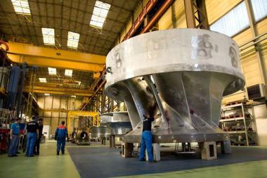 Fabrication de turbines hydrauliques sur le site Alstom Hydro à Grenoble - chaire industrielle Hydro'like avec Grenoble INP