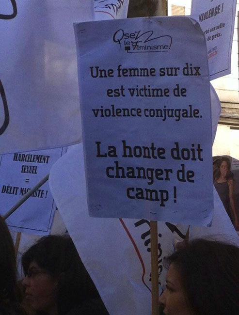Manifestation d'Osez le féminisme 38 © Osez le féminisme 38