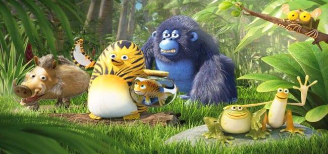 Les enfants ne sont pas oubliés au Festival du film nature et environnement organisé par la Frapna à Grenoble. Ici l'animation Les As de la jungle.