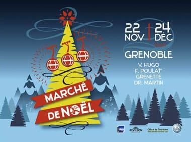 Marché de Noël 2014 à Grenoble place Victor Hugo rue Félix Poulat place Grenette et rue du Docteur Martin