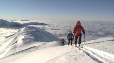 """Image extraite du film """"neige et avalanches"""" projeté lors des premières rencontres montagnes et sciences."""