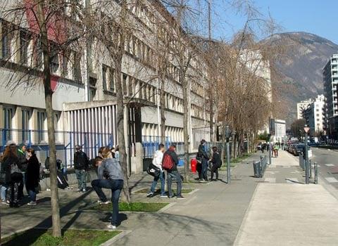 Lycée Mounier à Grenoble. © Guillaume Rantet