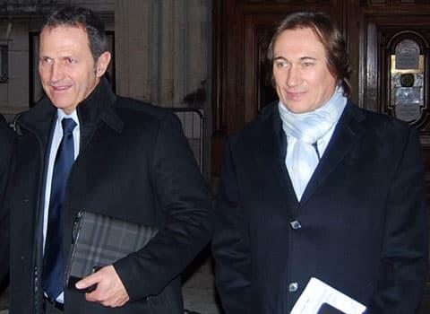 Philippe Gueydon, président du Medef Isère et Pierre Streiff, président de la Fédération du BTP Isère. © Medef 38