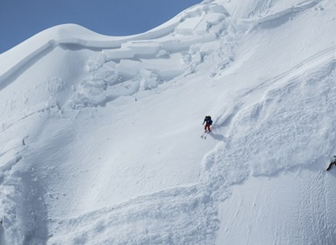 Témoignage avalanche. Photo Dom Daher - ANENA