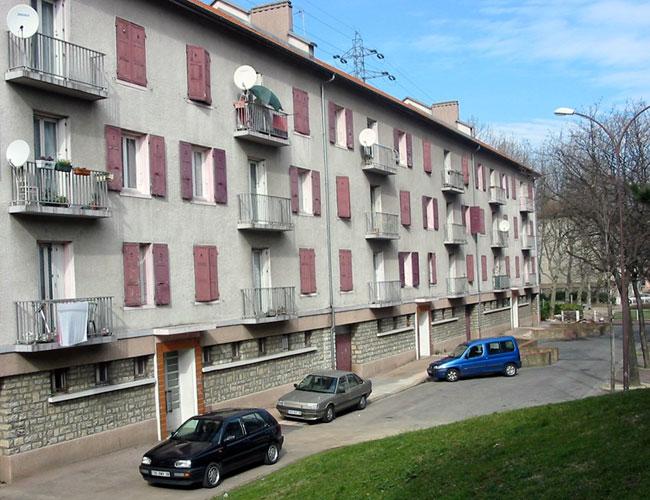Les barrettes du Drac, dans le quartier Mistral à Grenoble. © Ville de Grenoble