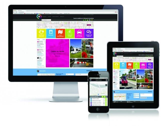 Interface du site internet et application Métromobilité ©Métromobilité