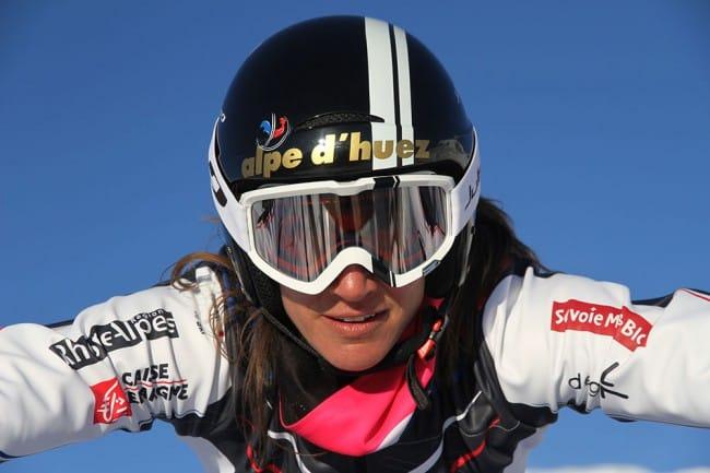 Ophélie David, septuple vainqueur du classement général de la coupe du monde de skicross ©Nis Louna