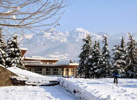 Campus de Saint-Martin-d'Hères en hiver. © Université de Grenoble