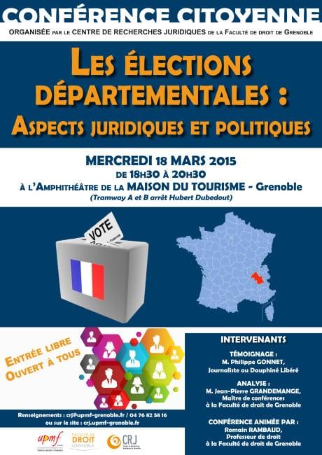 Affiche Elections départementales