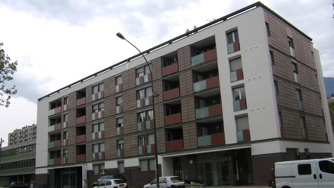 Le Carreau, avenue Rhin et Danube quartier Mistral à Grenoble © Actis