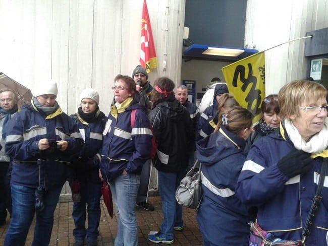 Outre la grève, le syndicat Sud-PTT appelle à un rassemblement lundi 11 janvier au matin devant la Poste de Goncelin © Sud PTT Isère-Savoie