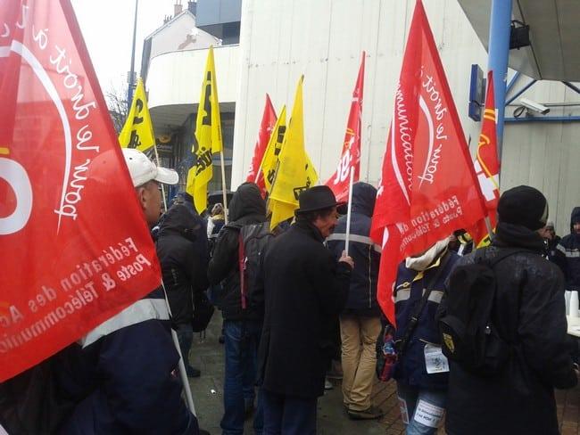 Mouvement de grève de facteurs © Sud PTT Isère/Savoie