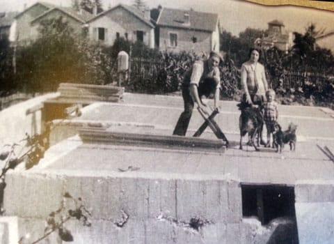 Construction de la cité-jardins du Rondeau en 1920, sur l'actuel emplacement du quartier Mistral à Grenoble.