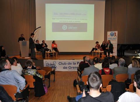 Débat sur les départementales 2015 Place Gre'net - Club de la presse de l'Isère à l'auditorium du Musée de Grenoble © Muriel Beaudoing - placegrenet.fr