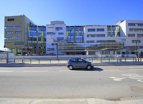 Les futurs locaux qui abriteront dès septembre 2015 les étudiants de Grenoble INP - Ense3 © Eiffage