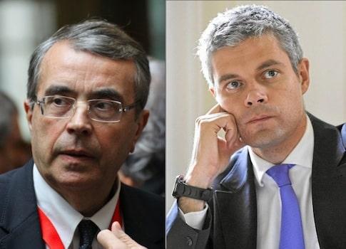 Régionales 2015 en Rhône-Alpes-Auvergne : à gauche, Jean-Jack Queyranne, à droite Laurent Wauquiez.